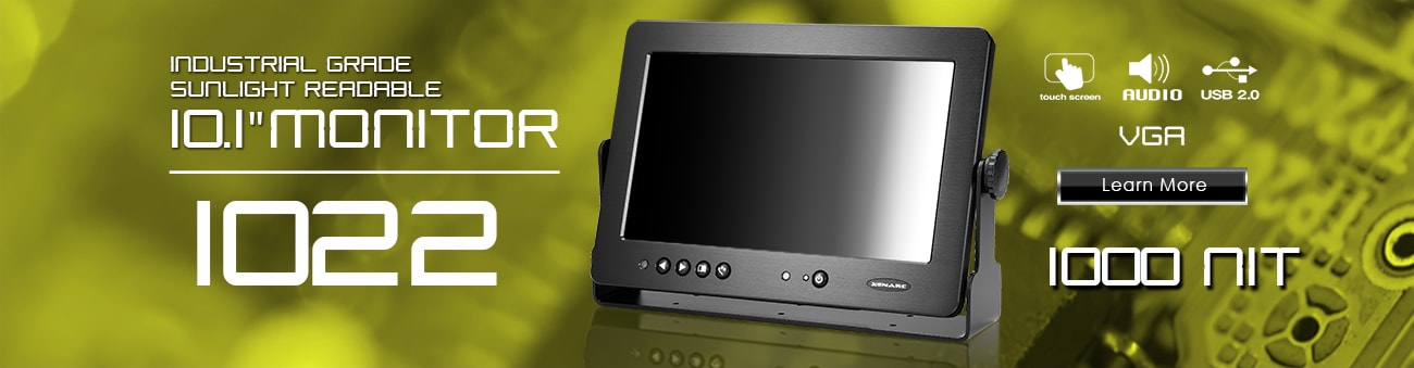 10 inch monitor, 10 inch touchscreen, small monitor, small touchscreen https://www.xenarc.com ruggedized solutions manufacturer for all industries  HDMI, VGA, DVI Video Inputs