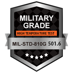 "Military Grade MIL-STD-810G 501-6 - High Temperature Test - 3rd Party Testing & Industry Certification of Rugged Enterprise-Ready 7"" to 18"" Touchscreen Display Solutions"