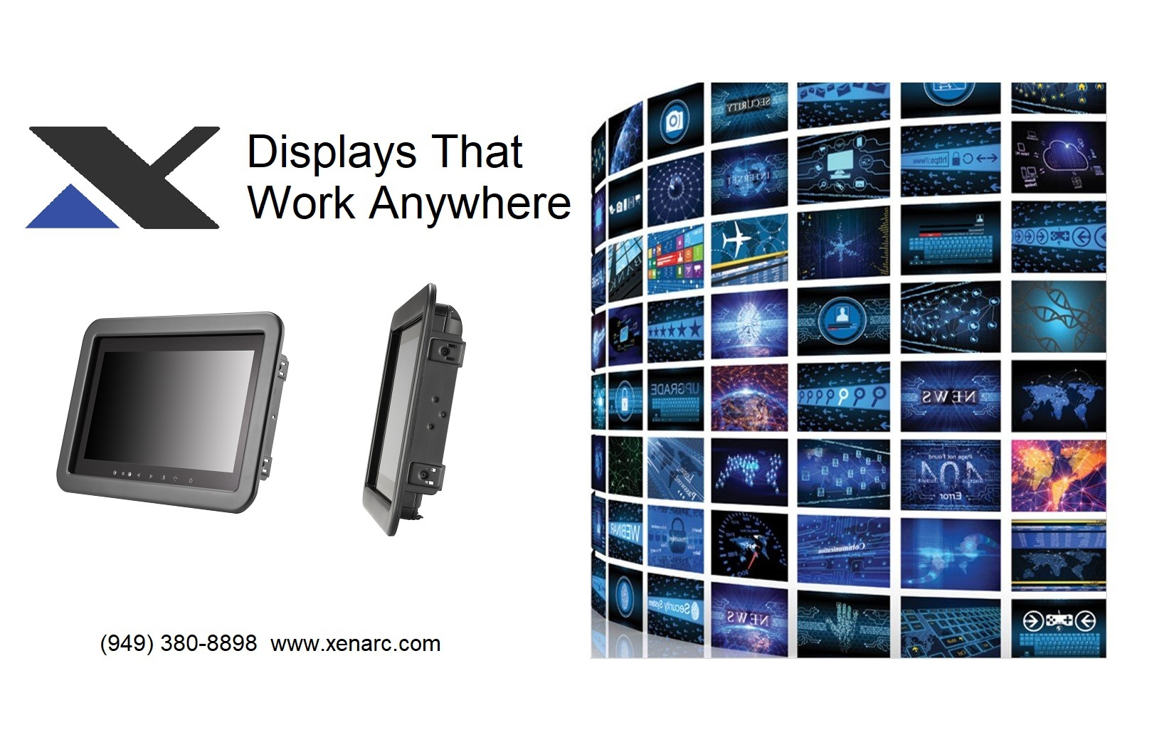 Gaming and Digital Signage Displays Touch Screen Solutions www.xenarc.com